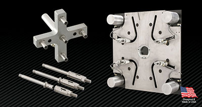 PFA Hydra-Jaws Quick Mold Change and Hydra-Latch Quick Knock Out Systems.