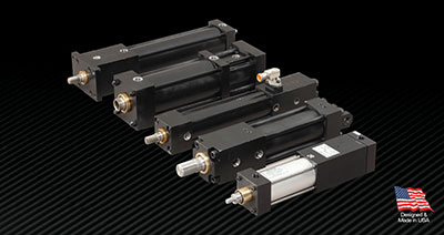 Hydraulic and Pneumatic Locking Cylinder High Force Holding PFA