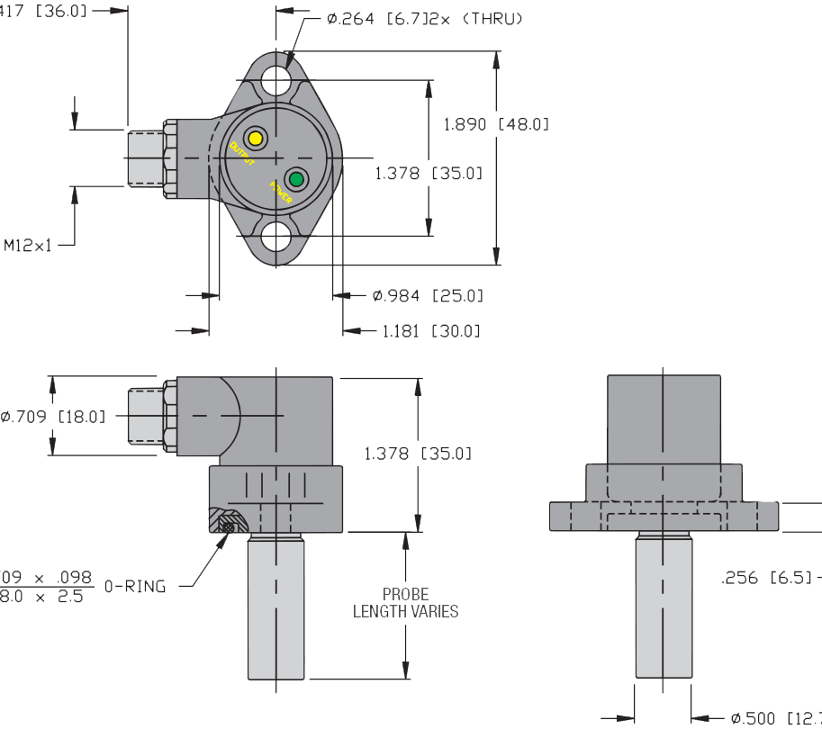 DC sensor layout for PFA Self-Locking Cylinders for general industry
