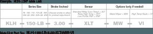 KOR-LOK Main Locking Cylinder Part number specification