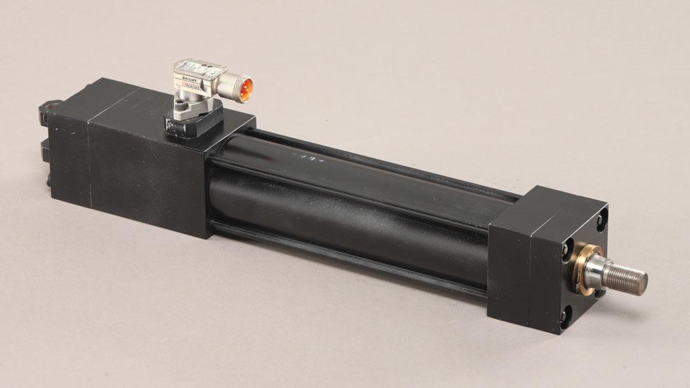 PFA lock-on-retract locking cylinder HYS PVS
