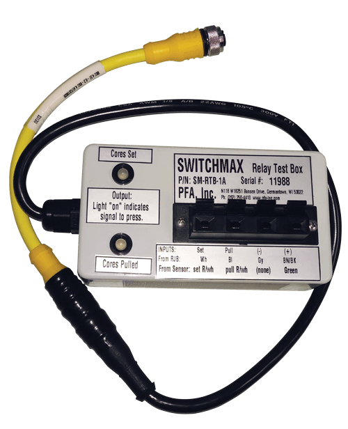PFA SWITCHMAX Relay Sensor and system test box