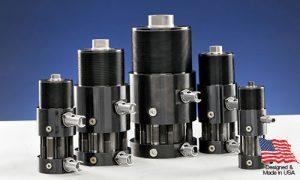 PFA Locking Core Pull Hydraulic Cylinders - KOR-LOK Preloading with relay sensors