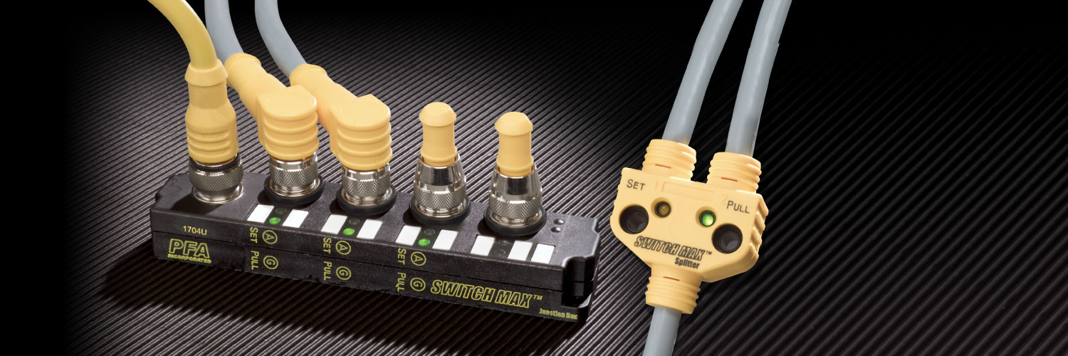 SWITCHMAX Brand Mold sensors and cables with LEDs  on Injection Molds - Plug and Play