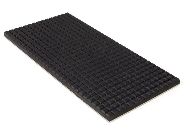 PFA Nitrile Rubber (NBR Buna-N) Gripper Pad on steel plate - Waffled surface