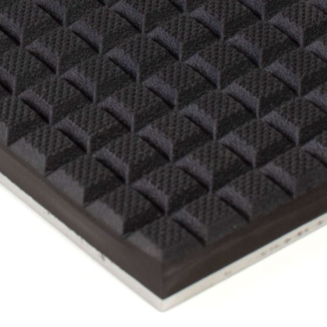 Waffled Rubber on Steel 6x12 Gripper Pads