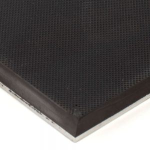 Knurled Rubber on Steel 6x12 Gripper Pads