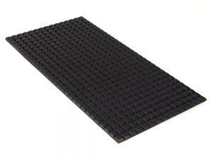 PFA Nitrile Rubber (NBR  Buna-N)  Gripper Pad on Aluminum plate - Waffled surface