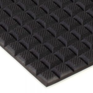 Waffled Rubber on Aluminum 6x12 Gripper Pads