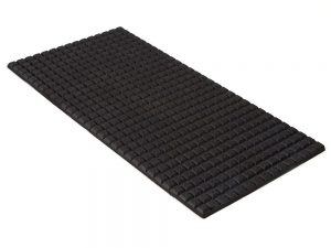 "6"" x 12"" PFA Nitrile Rubber (NBR Buna-N) Gripper Pad Waffled (Elastomer Only – 1/4″ thick)"