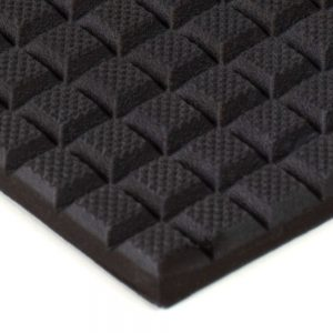 "6"" x 12"" PFA Gripper Pad: Waffled Rubber Pad (Elastomer Only - 1/4″ thick)"