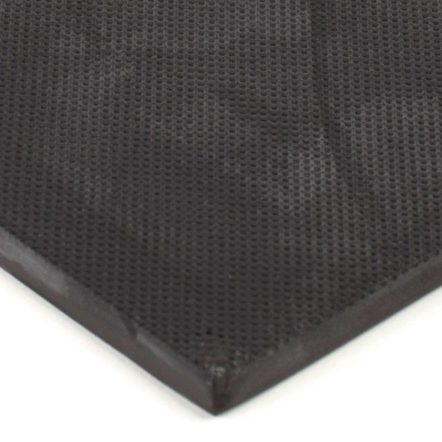 "6"" x 12"" PFA Gripper Pad: Knurled Rubber Pad (Elastomer Only)"