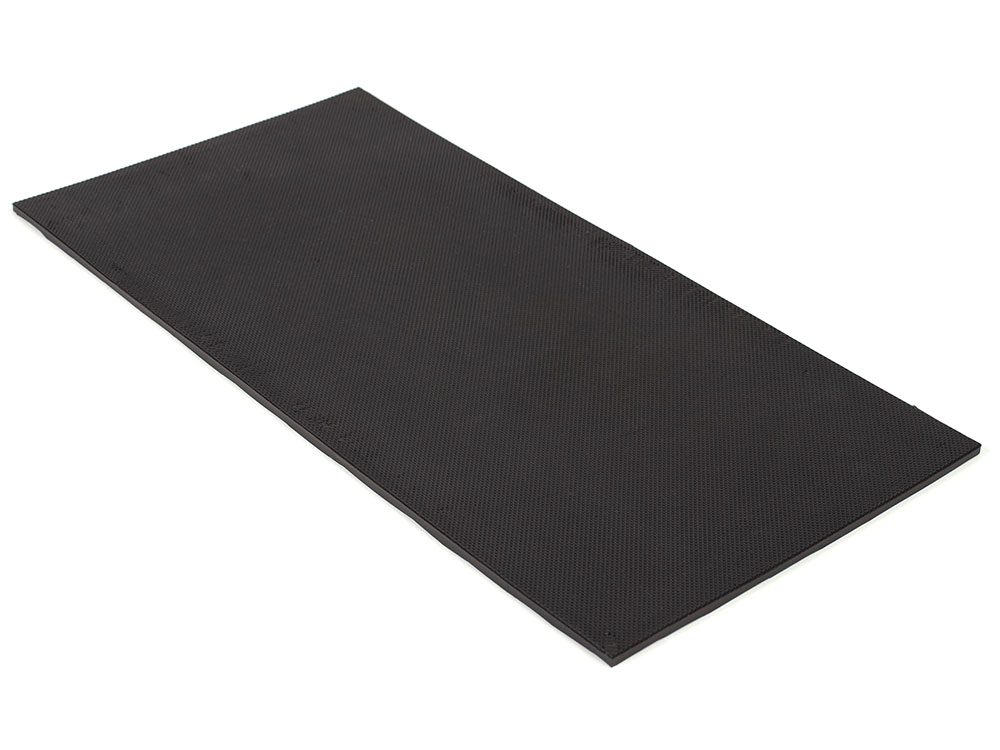 "6"" x 12"" PFA Nitrile Rubber (NBR  Buna-N)  Gripper Pad Knurled (Elastomer Only – 1/8″ thick)"
