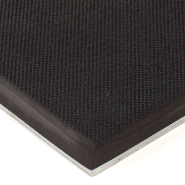 Pebbled Rubber on  Steel 6x12 Gripper Pads