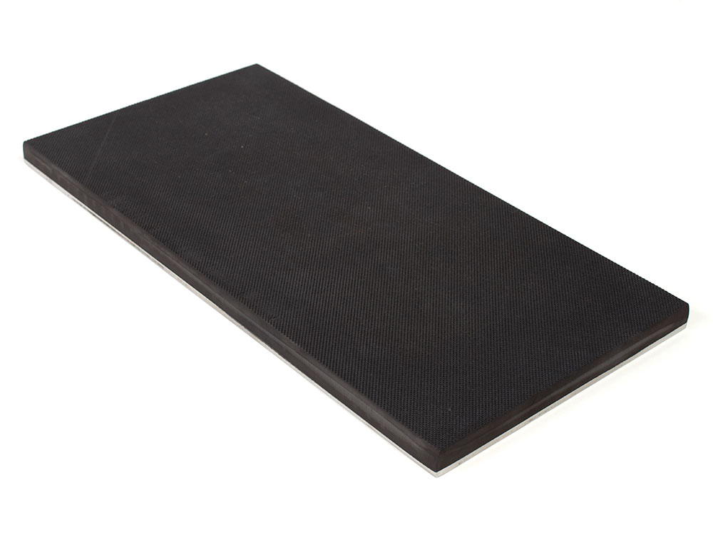 PFA Nitrile Rubber (NBR Buna-N) Gripper Pad on steel plate - Pebbled surface