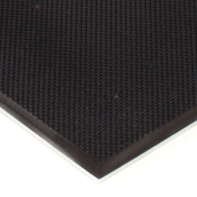 "6"" x 12"" PFA Gripper Pad: Pebbled Rubber Pad with Aluminum Backplate"