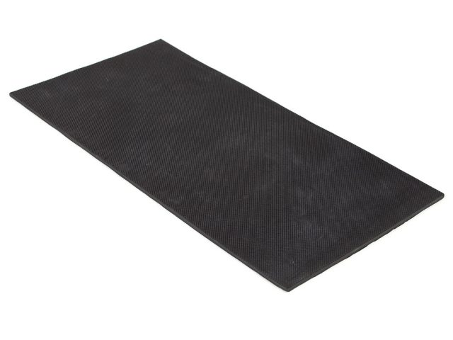 "6"" x 12"" PFA Gripper Pad: Pebbled Rubber Pad (Elastomer Only - 1/8″ thick)"