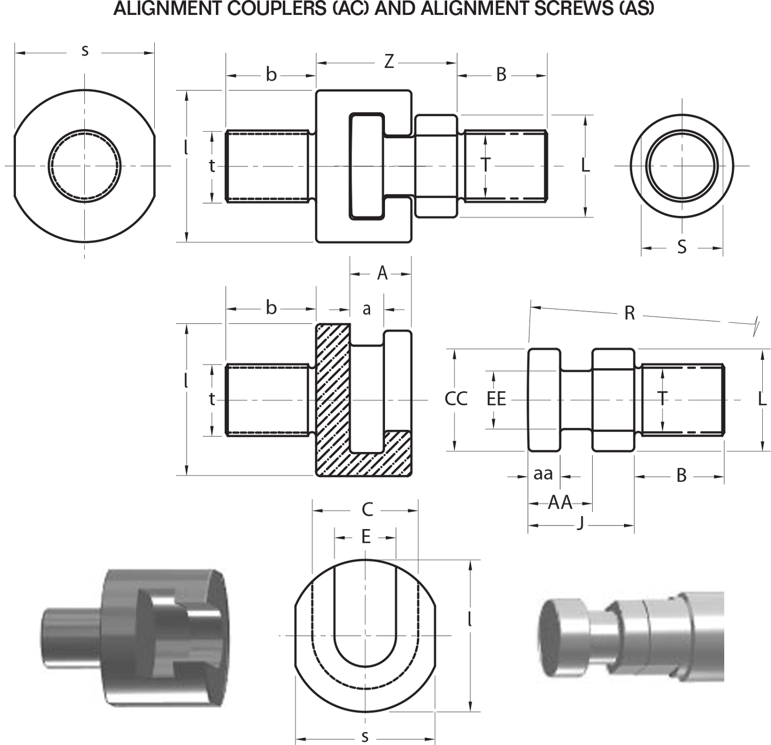 Alignment Couplers and Alignment Screws