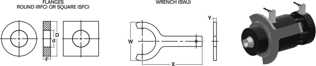 Flange and Wrench Dimensions