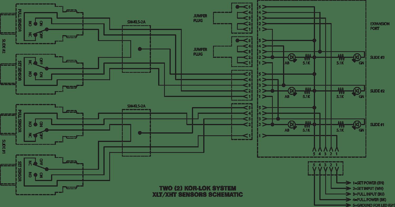 Two KOR-LOK system XLT/XHT Sensors Schematic