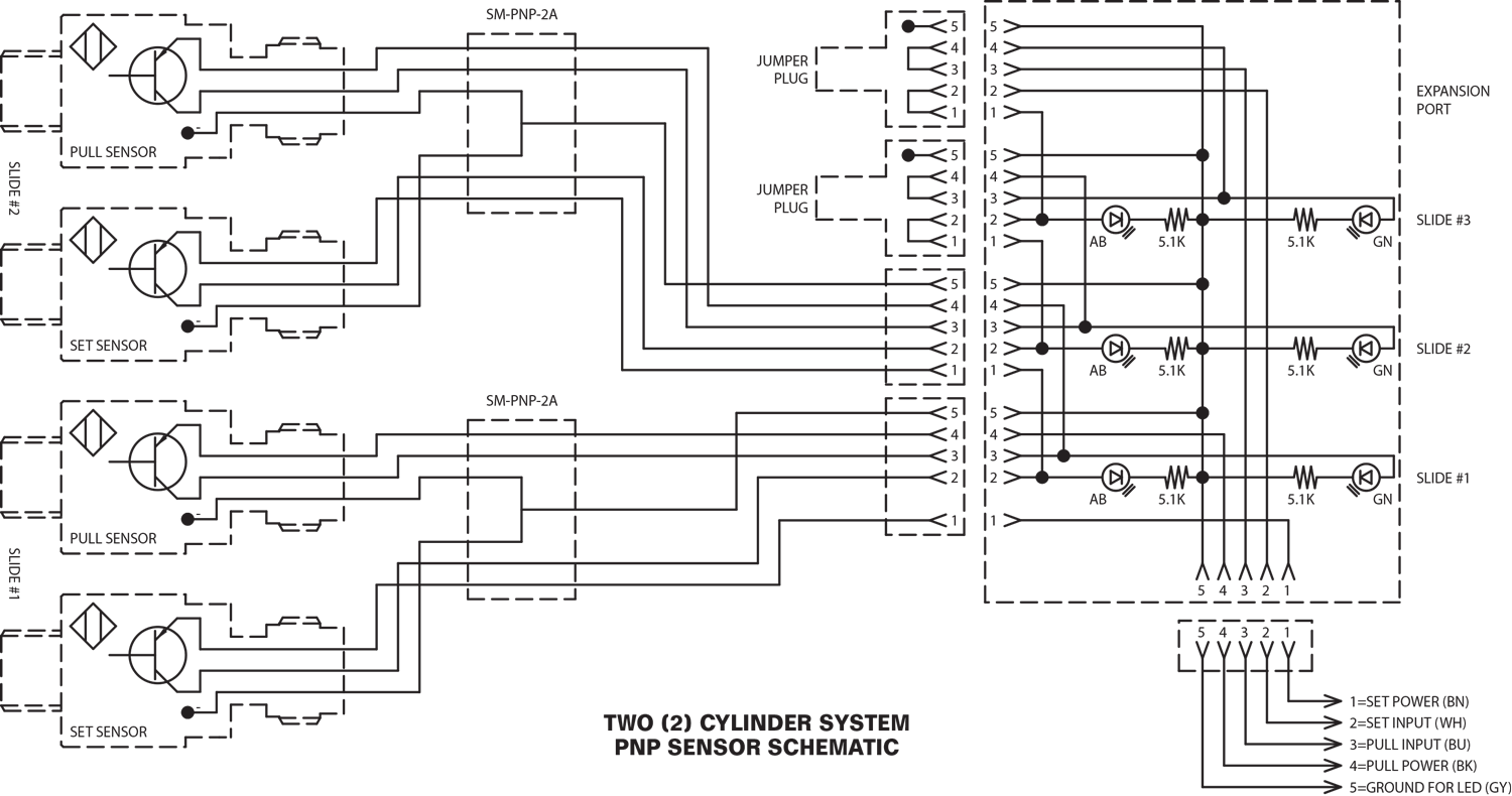 Two Cylinder System PNP Sensor Schematic