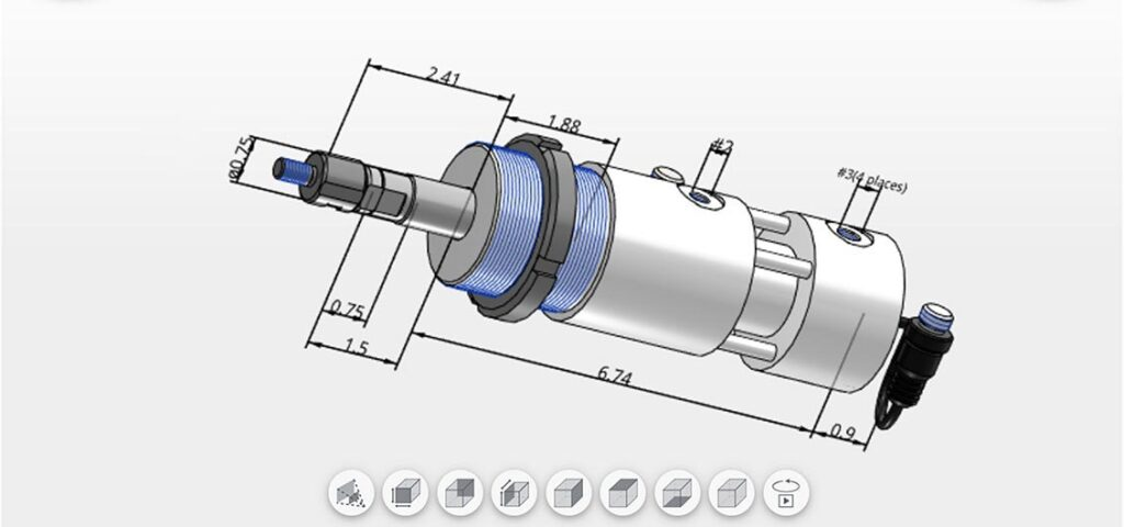 Hydraulic Locking Cylinders Parametric CAD Models in All Native File Formats